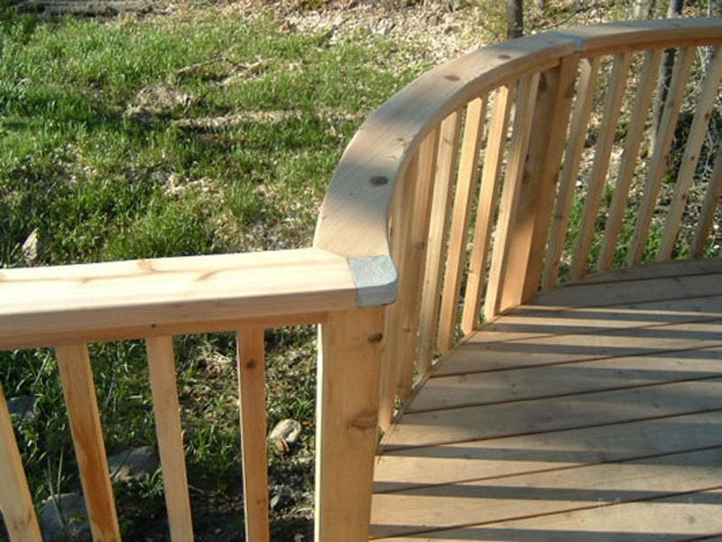 Meyer S Landscaping Ltd Deck With Curved Rail